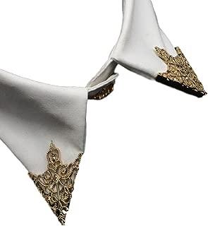 【J's select】ファッション アクセサリー アンティーク スチームパンク 付け襟 チップ ゴールド 金