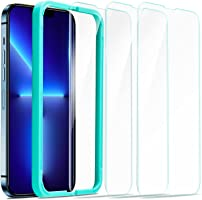 ESR Tempered-Glass Screen Protector Compatible with iPhone 13 Pro Max, with Easy Installation Frame, Ultra Tough, Clear,...