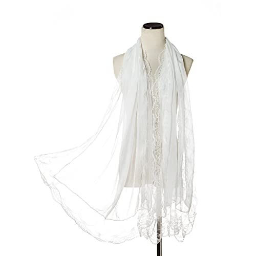 b115b5963 Classic Women Lace Lightweight Wrap Ladies Dance Shawl For Wedding,  Parties, Bridesmaid,Prom