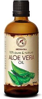 Aceite de Aloe Vera 100ml - Aloe Barbadensis - Brasil - 100% Puro y Natural - Botella de Cristal - Cuidado Intensivo para ...