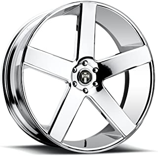 DUB BALLER P -Chrome Wheel with Painted (22 x 9.5 inches /6 x 139 mm, 31 mm Offset)