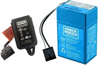 Power Wheels Battery and Charger 4 Amp Blue 00801-1781, 00801-1457 - NEW GENUINE