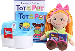 Potty Training with Tot On The Pot (Light Girl) - Complete Kit Includes Parent's Guide, Children's Book, TOT Doll, Toy Toilet & Activity Reward Cards | Pediatrician-Recommended | Play-Based Learning