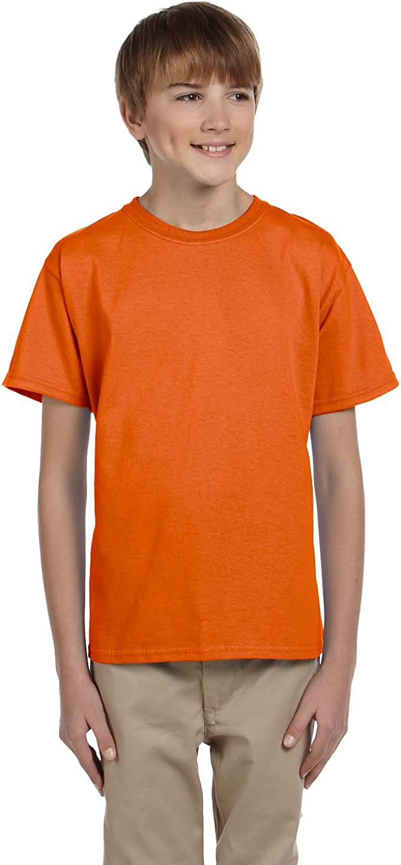 By Hanes Youth 52 Oz, 50/50 EcoSmart T-Shirt - Orange - L - (Style # 5370 - Original Label)