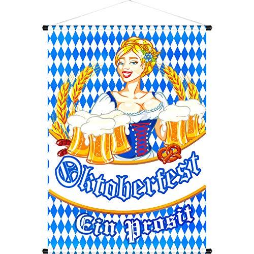 Tür Banner Haus Flagge Welcome Banner Bavarian German Bierfest Bayerisches Bier für Indoor/ Outdoor Dekoration Arten Flagge Party Parade 18,5 x 12,59 Zoll (Farbe 8)