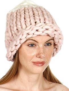 قبعة نسائية طويلة متدلية من SERENITA قبعة سميكة للغاية قبعة صغيرة كبيرة الحجم للنساء. كابل ممتد حلقة كبيرة