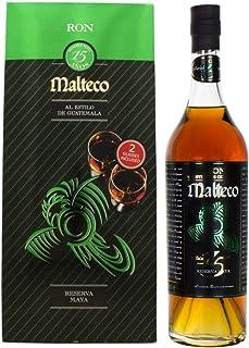Malteco Ron 15 Años Reserva Maya mit Geschenkverpackung mit 2 Gläsern Rum 1 x 0.7 l