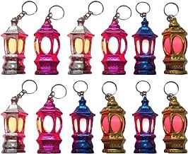 FRCOLOR 40Pcs Mini Keychain Flashlights LED Pocket Ramadan Lantern Key Chain Keyring Light Lamp Toy Islam Eid Bag Handbag ...
