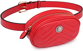 Fanny Pack Waist Bag Women Belt Bag Luxury Brand Leather Wallet Purse Chest New Money Bag Mother's Day,Red