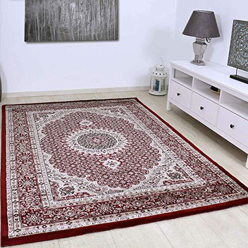 VIMODA Alfombra clásica Muy tupida con Motivo Oriental en Color Rojo - Calidad excelente, Maße:80 x 150 cm