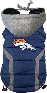 Littlearth NFL Denver Broncos Dog Puffer Vest