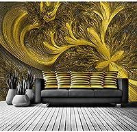 リビングルームの壁の壁画ゴールデンレザー写真の壁紙リビングルームの寝室の壁紙壁画3D家の装飾壁紙壁の壁画-450x300CM