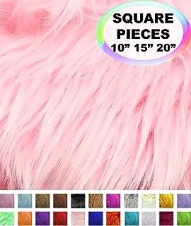 pink faux fur material