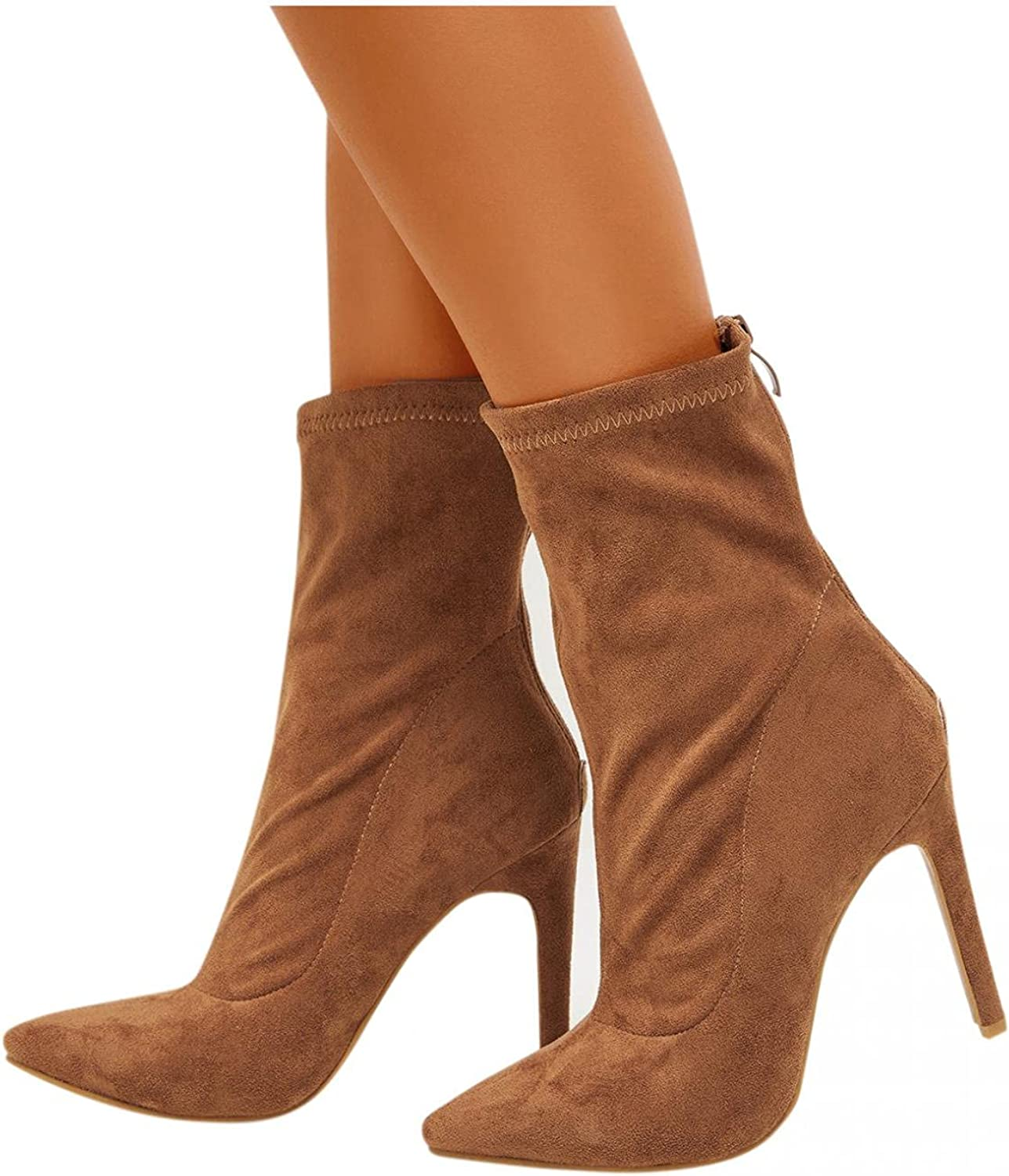UOCUFY Ankle lowest price Boots for Women Platform Large special price !! Sexy Zipper Autumn Fashion