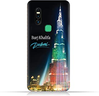 AMC Design TPU Mobile Case Cover for Infinix S5 Pro with Burj Khalifa Illuminated Pattern