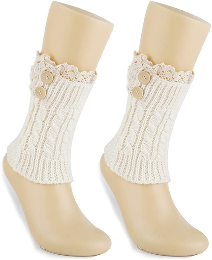 EUBUY Women Winter Warm Crochet Knitted Boot Cuff Sock Top Cover Short Leg Warmer