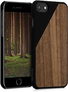 kwmobile Funda para Apple iPhone 7/8 - Carcasa de [Madera] - Case Trasero Protector [Duro] con diseño de Madera Bicolor