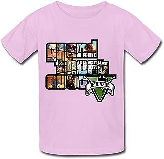 SIANDA Kid's GTA V Grand Theft Auto Game Logo Unisex T-Shirts