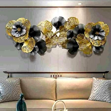 AHD-223 Astro Home Abstract Metal Wall Art Decoration Perfect for Home Decor, Bedroom Design, Living Room Decor (Size-60x28 Inches, Multicolor)