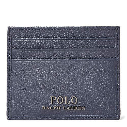 Polo Ralph Lauren Men`s Pebbled Leather Card Case (Navy(487189), One Size)