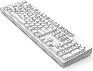 Hello Ganss – Teclado mecánico para juegos de tamaño completo – Cherry Mx rojo, programable, PBT Keycaps – US Inglés/Qwert...
