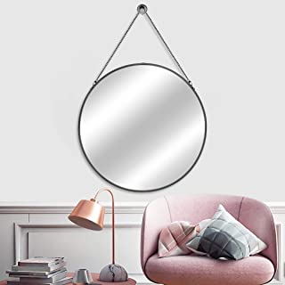 MORIGEM Round Mirror with Hanging Chain, 24