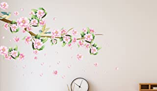 Amazon Brand - Solimo Wall Sticker for Bedroom (Blushing Blossoms, Ideal Size on Wall: 145 cm x 80 cm)