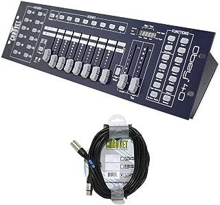 Pacakge: Brand New Chauvet Obey 40 Universal Dmx 512 Controller with 192 Channels and Midi Compatibility + Chauvet Dmx3p25ft Dmx Xlr Female to Male Dmx Cable