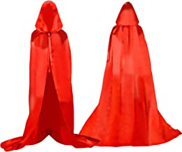 Capa de Muerte Suministros para vestirse de Fiesta de Halloween Largo Capa con Capucha Disfraz de Halloween para Mujeres Hombres Rojo 1 Poli/éster Rojo Nikgic