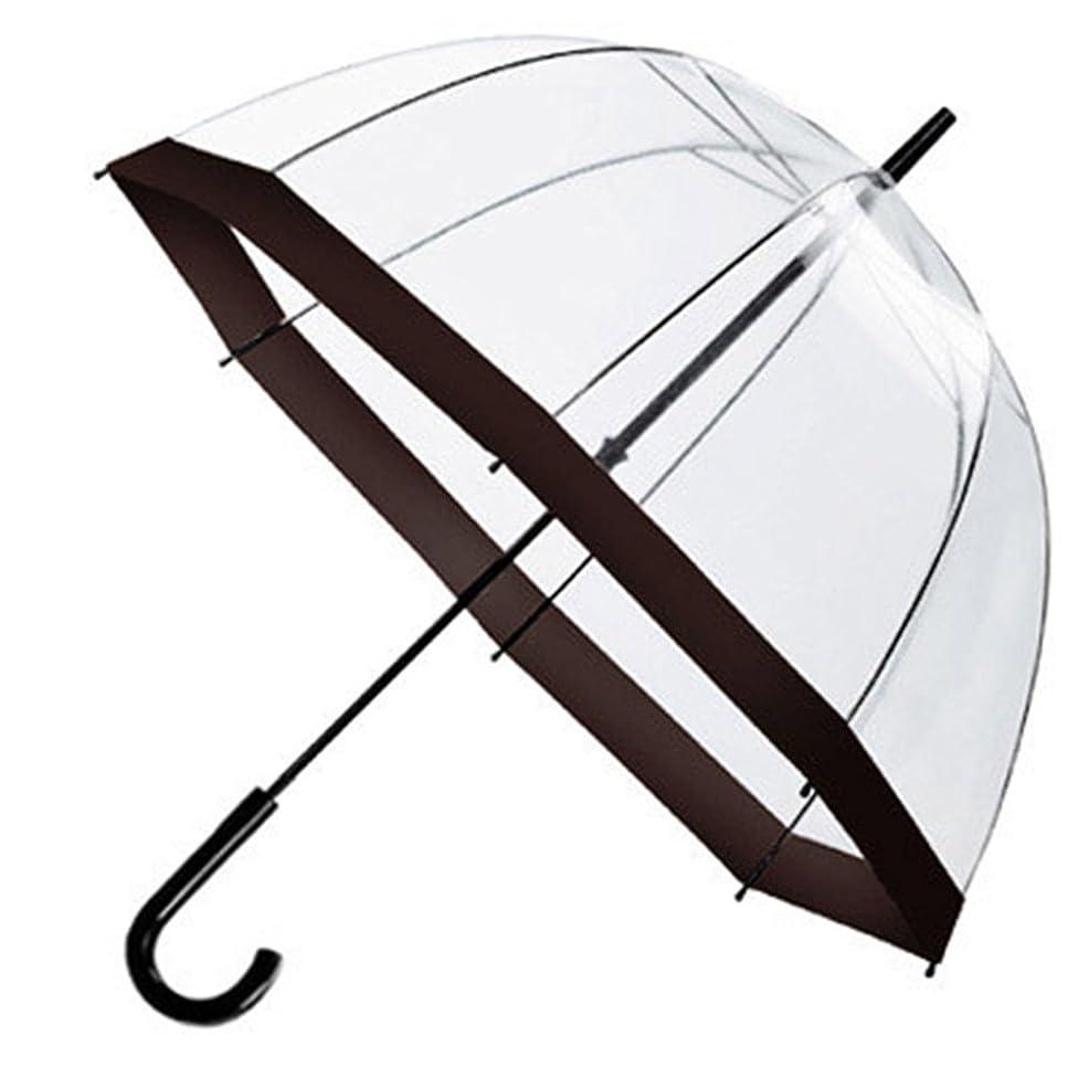 Stormeagle Auto Open Fashion Dome Shape Bubble Princess Umbrella Windproof Sunny/Rain Protection Clear Stick Umbrella with Color Trim