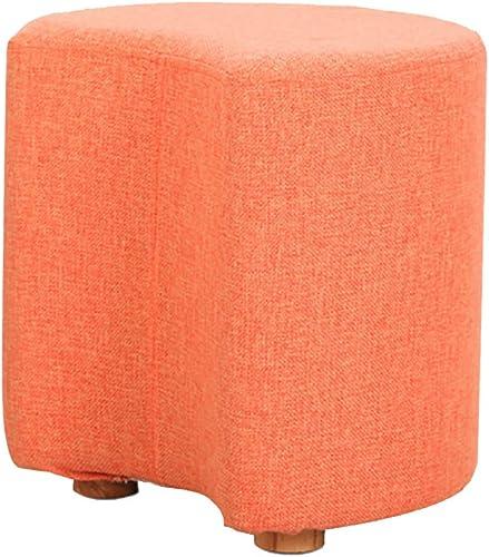 Sofa stool Rembourré Tabouret Pouf voitureré Mode Tissu Salon Tabouret Chaussures de ChangeHommest 33  35cm