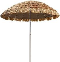 Outdoor Ronde Parasol, Tuin Patio Parasol Parasol Paraplu Oppervlaktediameter|2.5m|, Kunstmatige Plastic Stro Parasol, Voo...