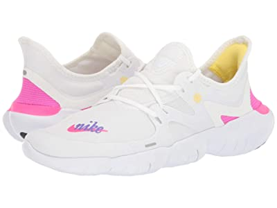 Nike Free RN 5.0 JDI (White/Laser Fuchsia/Summit White) Women