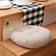 Almofada redonda de linho, almofada de assento acolchoado, piso liso, confortável e confortável, sofá acolchoado, cadeiras...