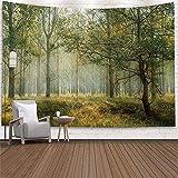 Tapiz de paisaje de bosque agujero de árbol colgante de pared dormitorio artista de tapiz decoración del hogar tela de pared tela de pared de ciudad A7 180x230cm
