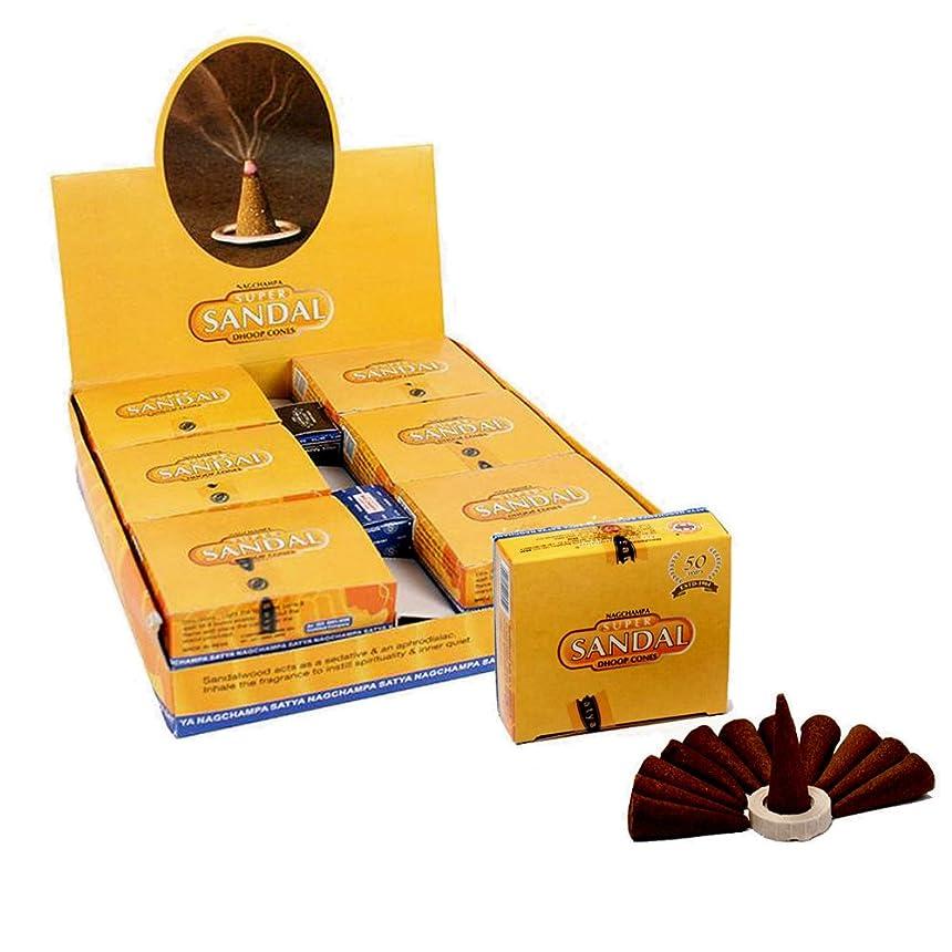 風景クック銅SatyaサンダルTemple Incense Cones、12?Cones in aパック、12パックin aボックス