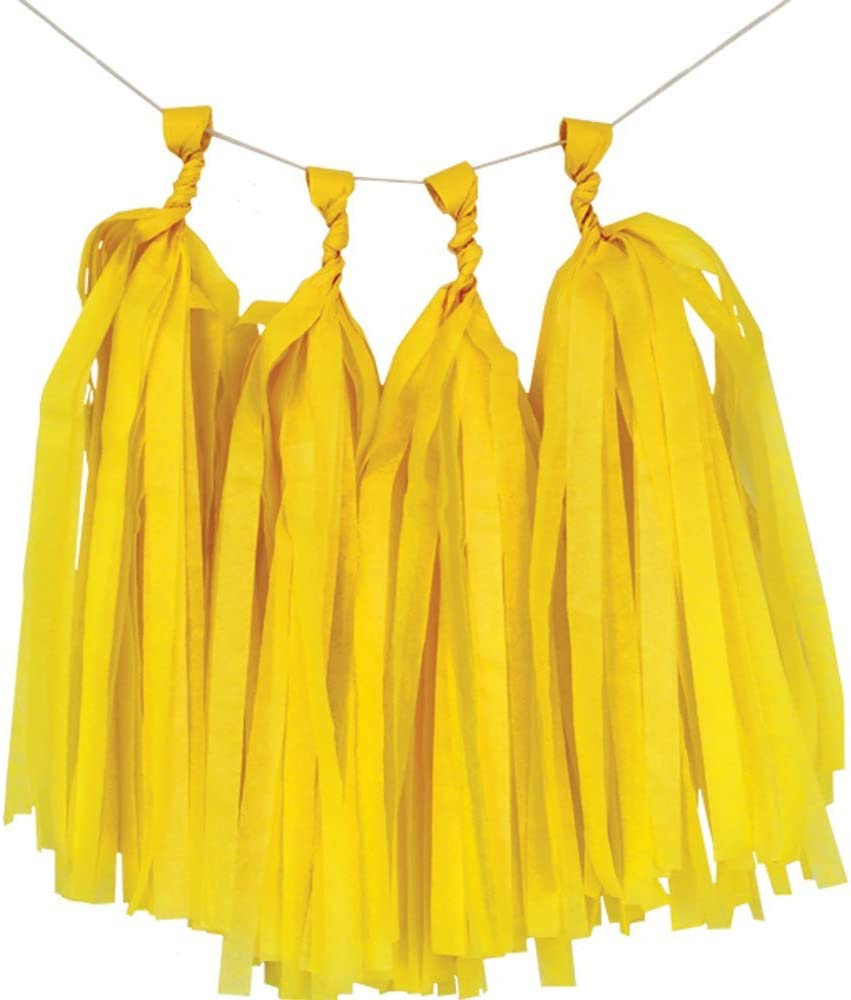 Just Artifacts Tissue Max 87% OFF Paper Tassel Garland Kit 4 - Ta Yellow Clearance SALE! Limited time! DIY