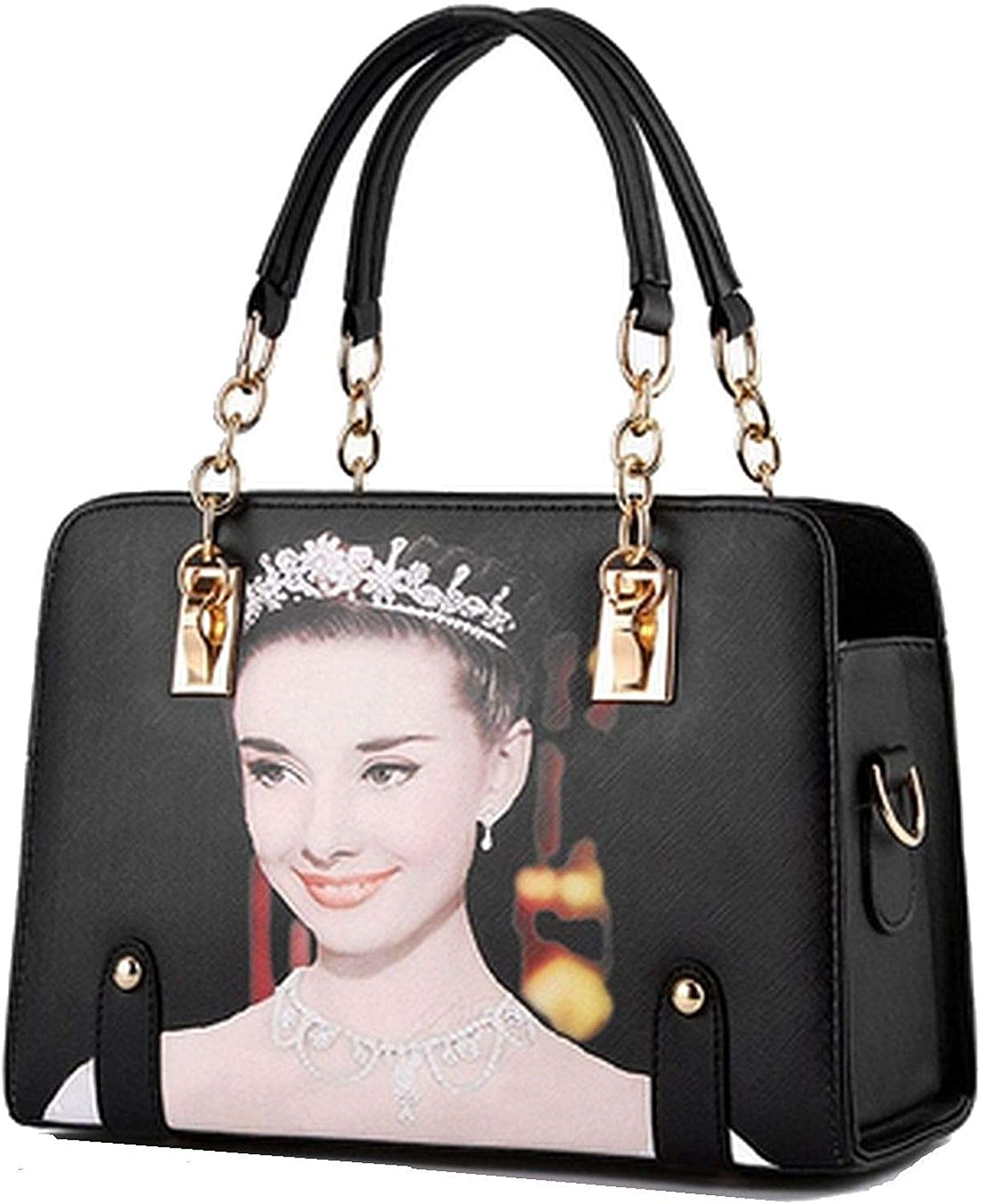 Audrey Hepburn on a Handbag, Purse with Leather and Chain Handles (and Feet)