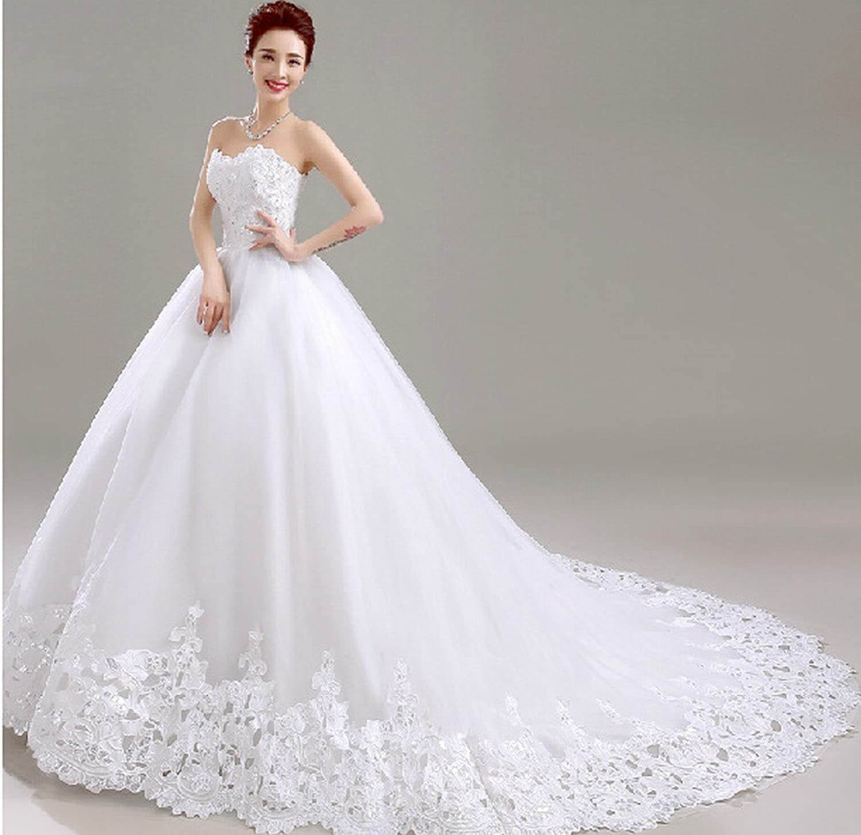 CXY Marble Wedding Dress Lace Bridal Bride Wedding Dress Slim Princess Wedding Dress