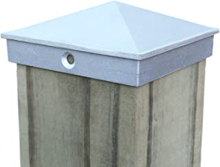 """4x4 Fence Post Cap (3 1/2"""") 10 Pack Decorative Unfinished Aluminum - Mailbox, Lamp Post, Wood Deck, Dock, Piling Caps for ..."""