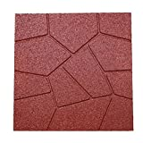 RevTime Dual-Side Garden Rubber Paver 16'x16' for Patio Paver, Step Stone...