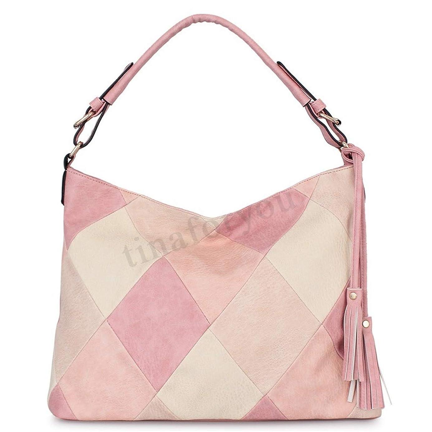 とげのある船形スロープファッション > レディース > バッグ?財布 > バッグ > ショルダーバッグ/Women Tassel Splicing Leather Satchel Crossbody Shoulder Bag Travel Handbag Tote