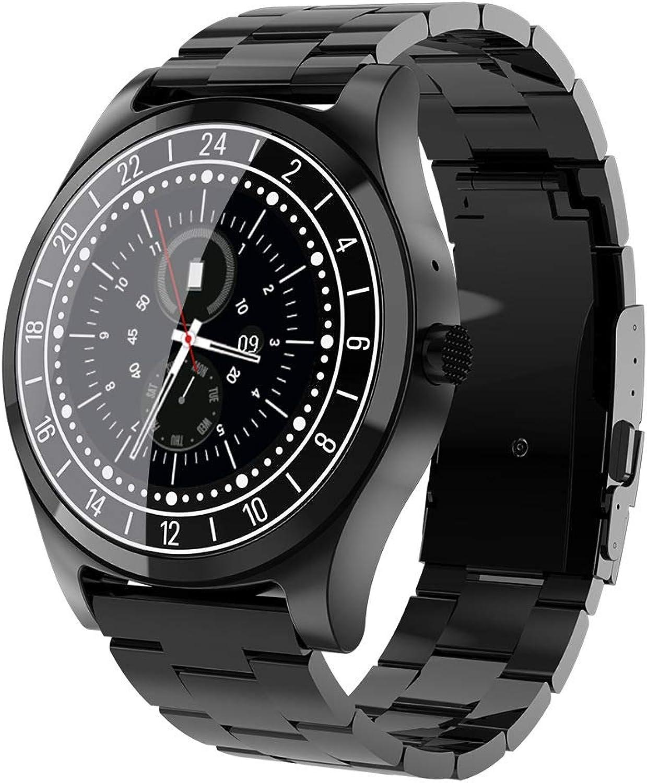 JAY-LONG Smart Watch, IP67 wasserdichte Business-Uhr, Blautooth-Anruf, Fitness-Tracker, Herzfrequenz-Blautdrucküberwachung, Message Push,schwarz