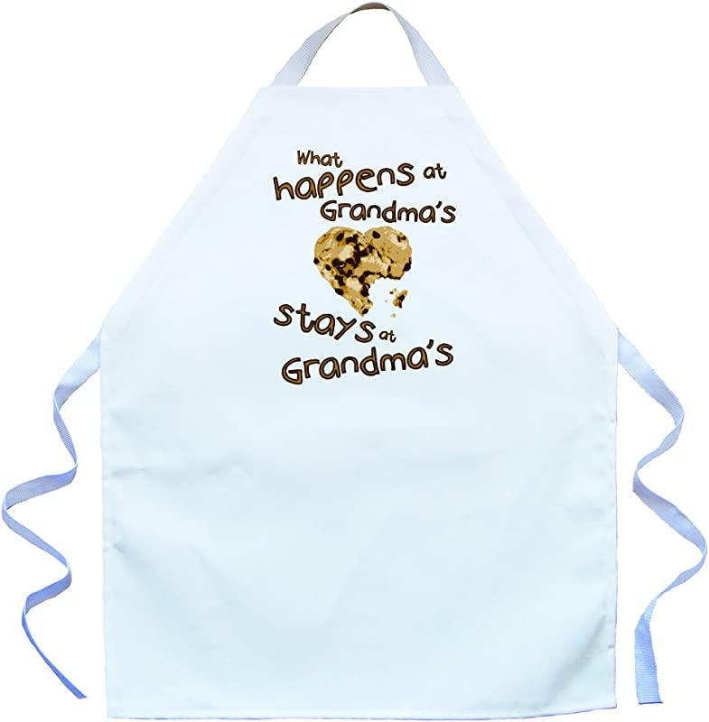 Attitude Aprons What Happens At Grandma S Stays At Grandma S Adjustable Apron For Kids White