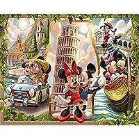 スタンプクロスステッチキット、アニメかわいいマウス11CTプリント刺繡、パターンスターターキット付き、大人の初心者向け、家の装飾とギフト用16x20インチ