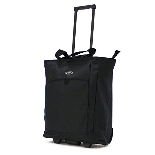 Olympia Luggage Rolling Shopper Tote,Black,One Size