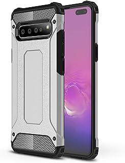 DEVMO Phone Case Compatible with Samsung S10 5G Hard Plastic Shell Case/Shockproof Hard Bumper/Protective Cover Silver SM-G973F/SM-G973U/SM-G973W/SM-G973U1/SM-G9730