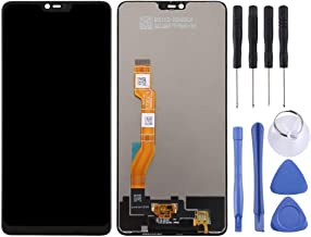 Mobile display LCD Screen and Digitizer Full Assembly for OPPO F7 / A3 (Black) (Color : Black)