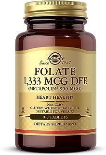 Solgar folat (folsyra) metafolin L-metylfolat 800 ml 100 veg. Tabletter