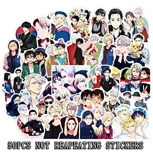 WanTo 50 Unids Japón Anime Pegatinas Estilo Clásico Moda Graffiti Pegatinas para Moto Coche Maleta Portátil Dibujos Animados Monopatín Pegatina F3,50pcs